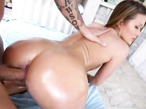 Big Butt Chick In A Golden Bikini Fucks A Hard Cock