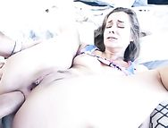 Beads And A Huge Dick Fuck Her Slutty Young Asshole