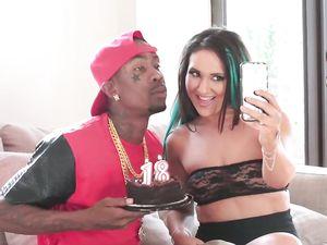 Slut Celebrates Her 18th Birthday With Black Cock