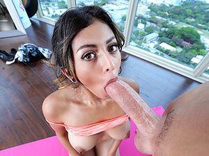 Cute Yoga Girl Gets Flexible When He Fucks Her
