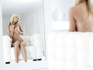 Teen Tempted By Her Own Hot Body In The Mirror