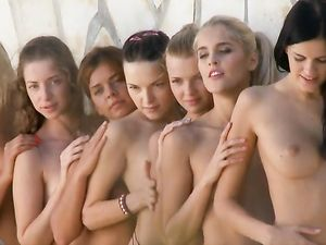 Small Tits And Tight Cunts On A Group Of Teen Models