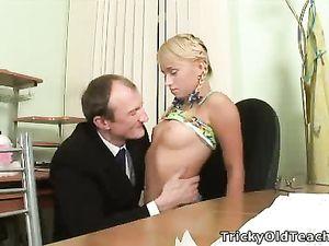 Teacher Sucking Teen Tits Because It Feels Good