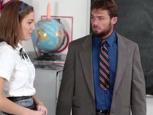 Bad Schoolgirl Boned By Her Big Cock Teacher