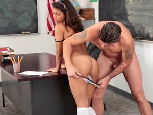 School Cutie Takes A Cumshot From Her Teacher