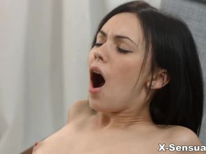 Pumping Hot Cum Into The Sexy Girl On Top