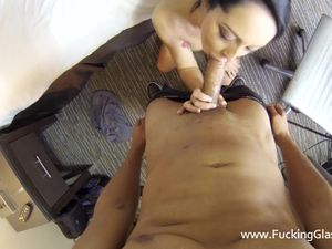Young Beauty In His Hotel Bed For His Big Cock