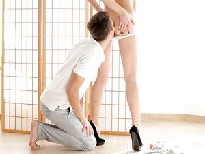Rimjob For A Tight Teenager In Sexy High Heels