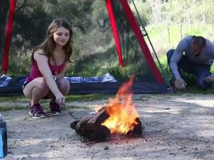 Camping With Alice March And Fucking Her In The Woods
