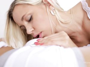 Blonde 18 Year Old Blows Her Boyfriend Erotically