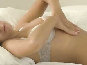Sexy Teen In Lingerie Masturbating With A Dildo