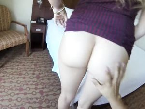 Brunette Teen Fucking A Big Cock In Hotel Room