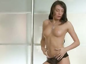 Young Babe In Sexy Lingerie Masturbating