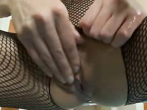 Great Body On This Toy Fucking Chick In Fishnets