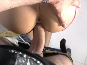 Angel With Glasses Pounded And Received A Creampie