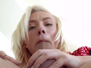Cute Blonde Girl Gets Her Mouth And Pussy Fucked