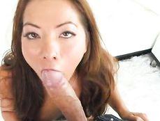 Stunning Brunette Sucking And Fucking Huge Dong
