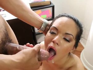 Sporty Cock Worshiper Climbs On Top And Rides