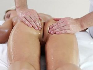 Massage Foreplay Makes His Petite Lady Horny For Cock