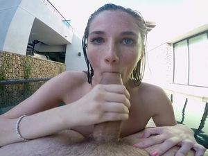 Sucking Dick In The Pool Like A Good Girl