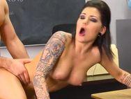 Punk Student Fucks A Preppy Guy In Class