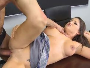 Drilling Curvaceous Schoolgirl Pussy With His Big Dick