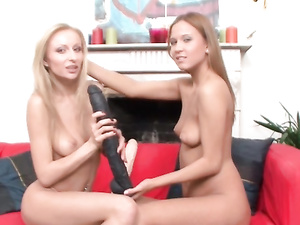 Sexy High Heels On Hot Lesbians Fucking Huge Strapons