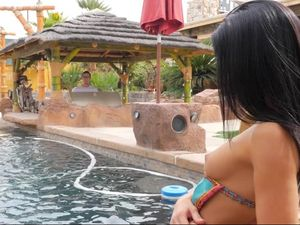 Long And Sexy Poolside BJ From Megan Rain