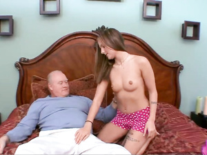 Senior Citizen Fucks Her Fresh Young Cunt Hardcore