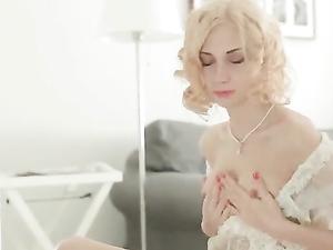 Young Nipples Are Rock Hard As She Masturbates